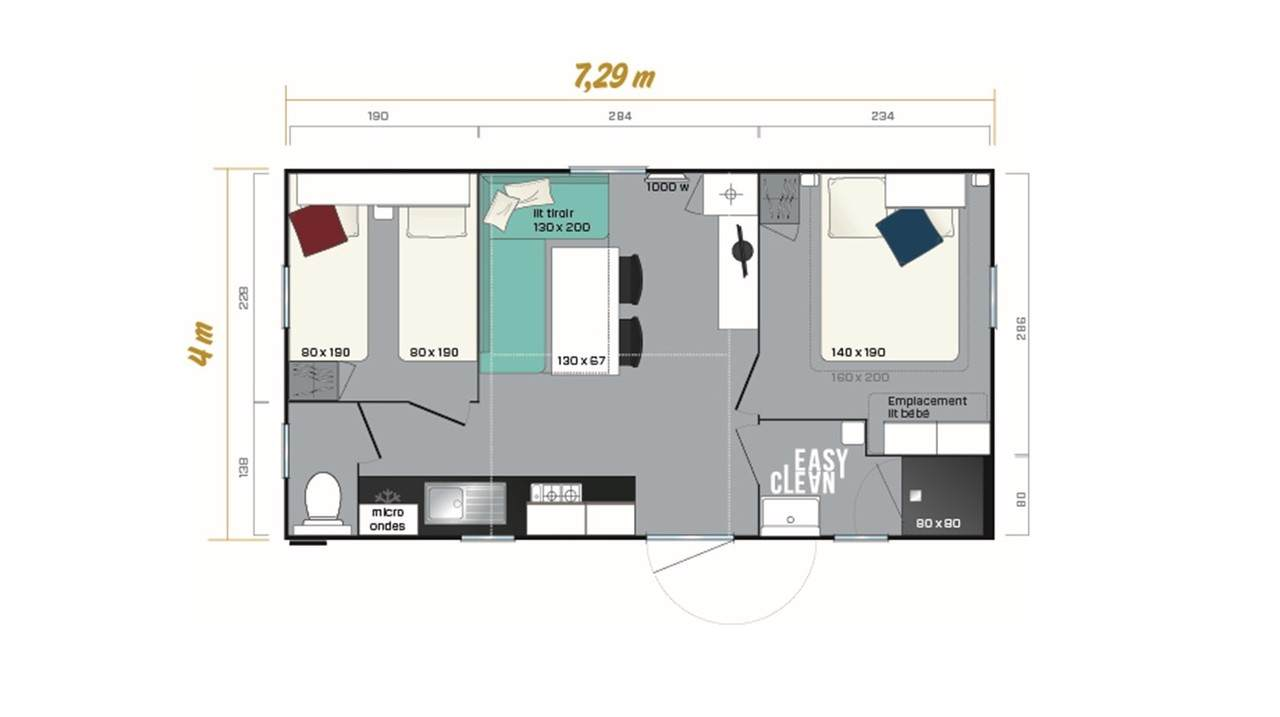 Mobile home SUPER MERCURE - 2 bedrooms | IRM for professionals