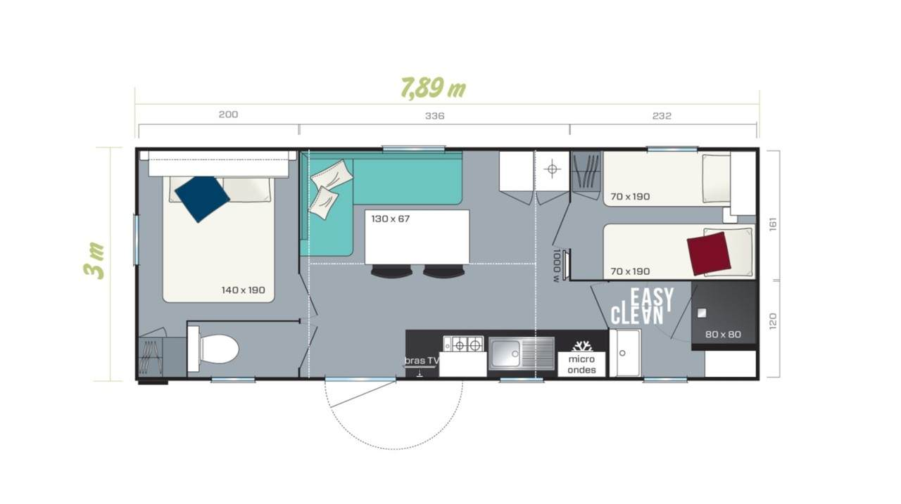 Mobil home TITANIA - 2 chambres pour professionnel | IRM