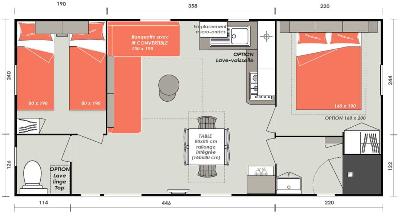 Casa prefabricada de Eleganzia 2 habitaciones | IRM