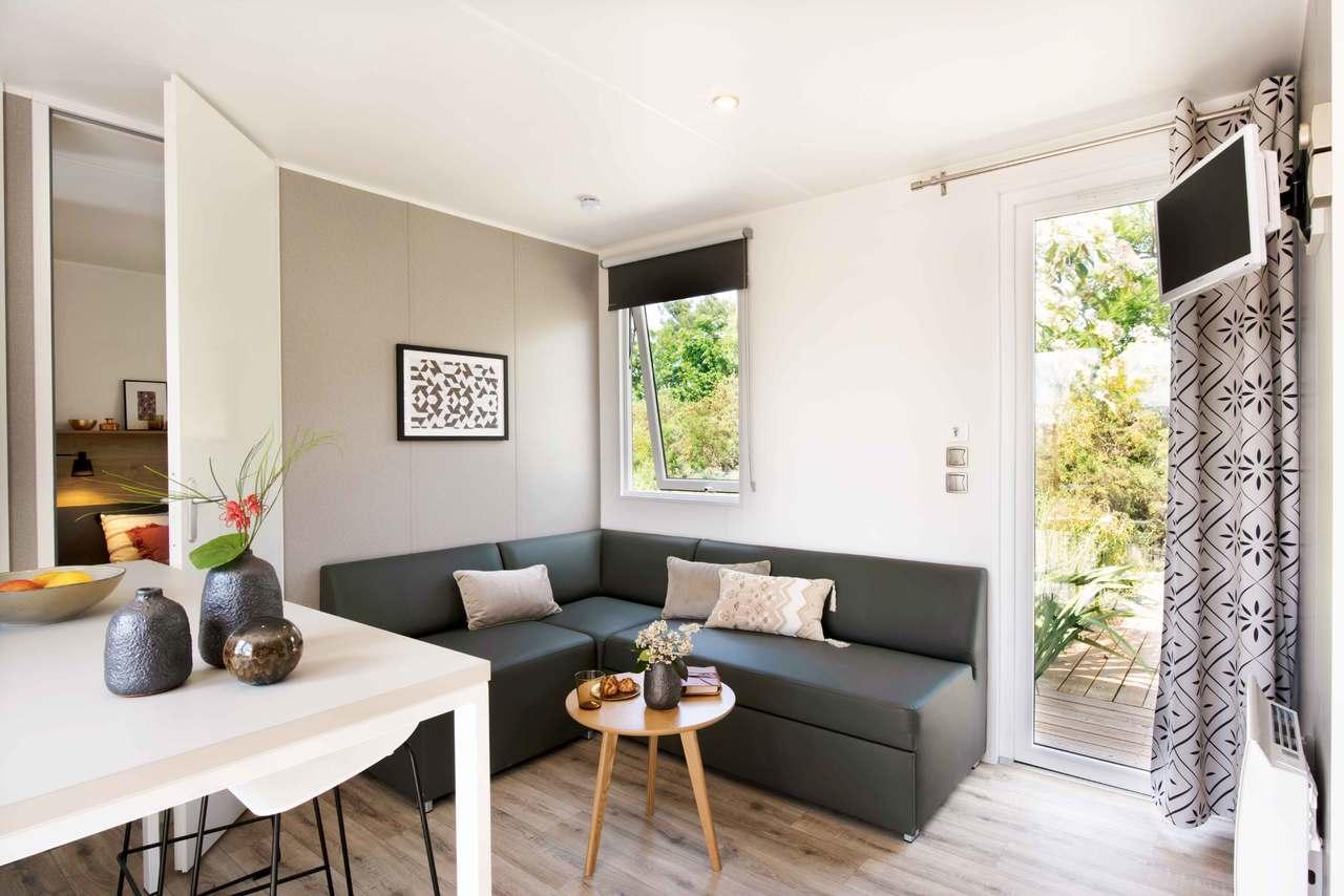 Mobil-home 3 chambres 884 3ch - Côté jardin 3