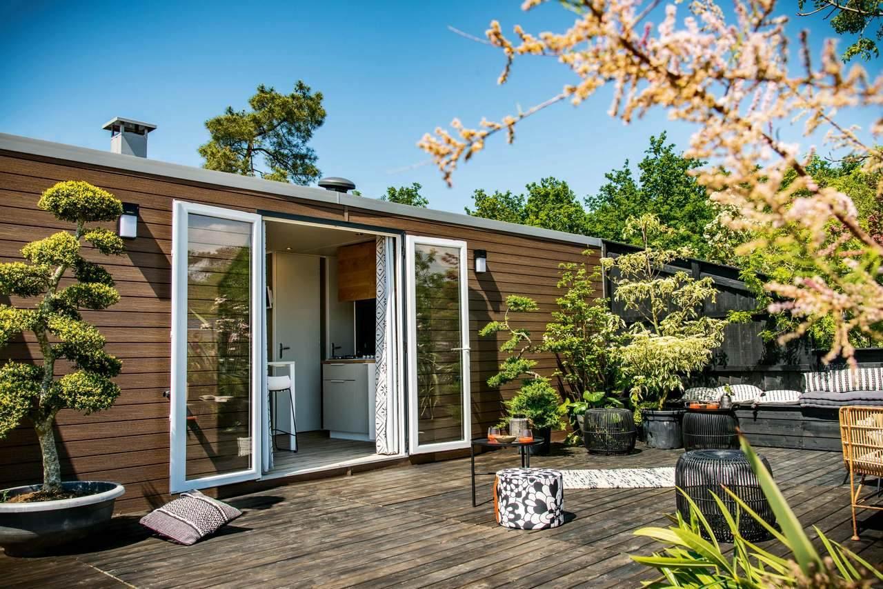 Mobil-home 3 chambres 884 3ch - Côté jardin 1