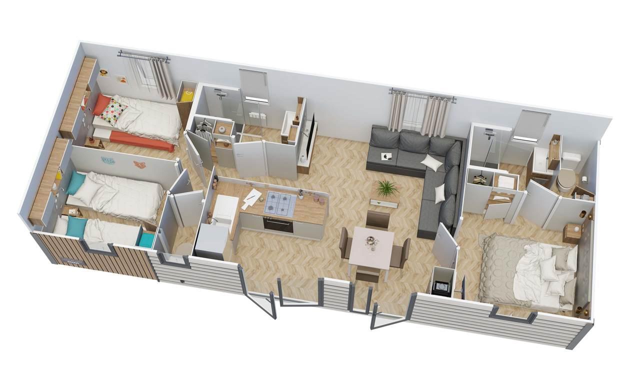 Mobilheim CLAIR DE LUNE 3 Schlafzimmer | IRM