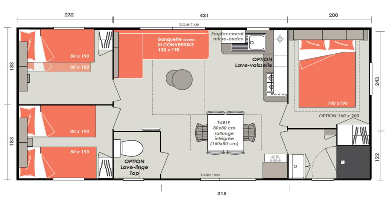 Casa prefabricada de Casita 3 habitaciones   IRM