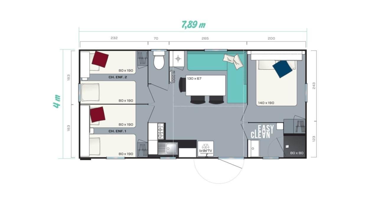 Stacaravan SUPER TITANIA 3 - 3 slaapkamers | IRM voor de zakelijke markt