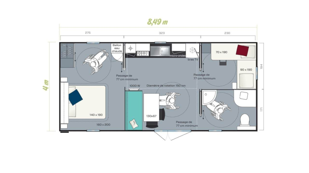 Mobil home LIFE - 2 chambres pour professionnel | IRM