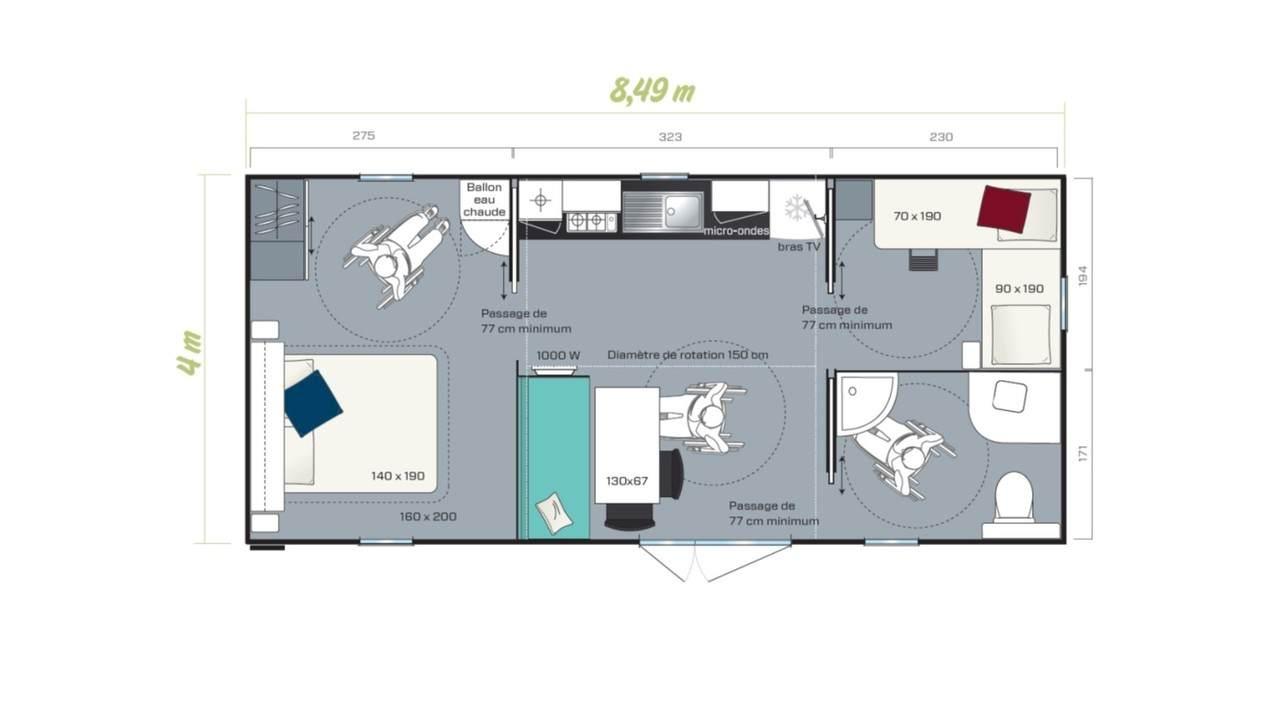 Stacaravan LIFE - 2 slaapkamers | IRM voor de zakelijke markt
