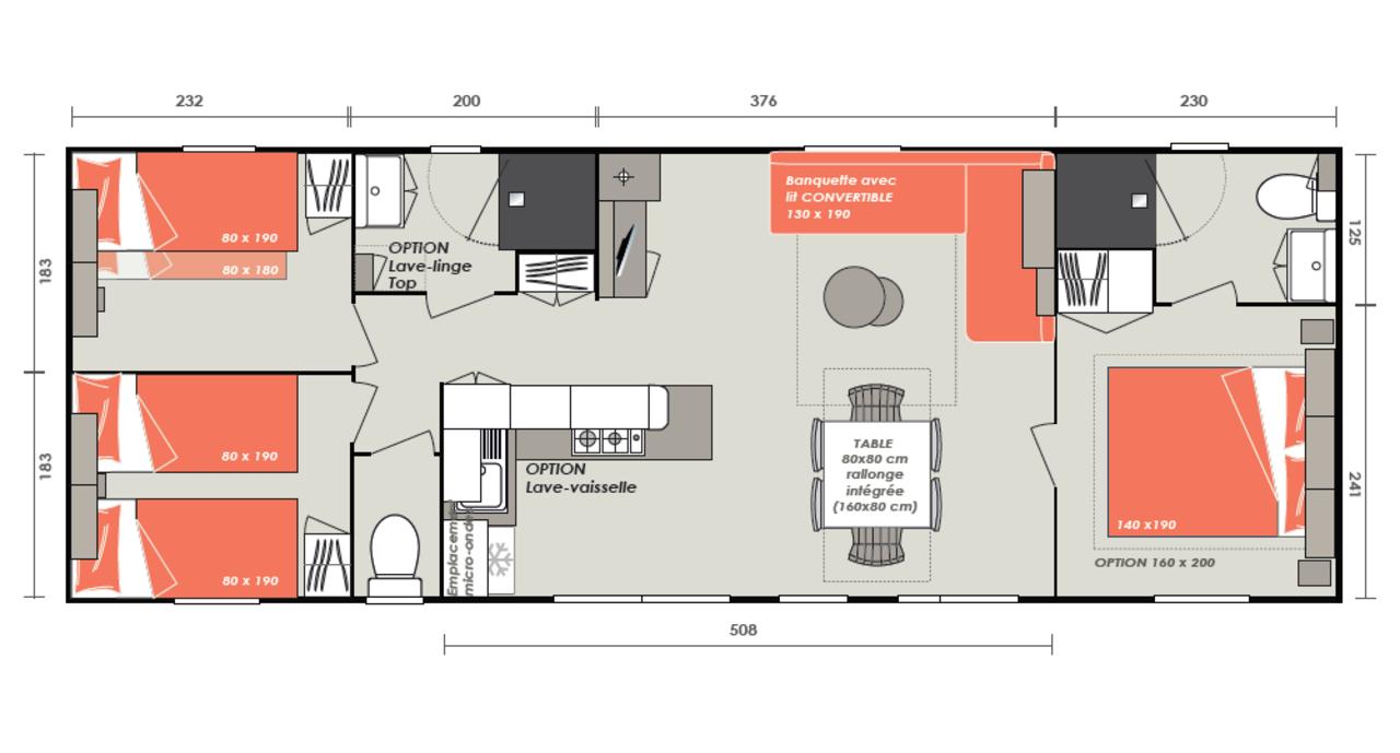 Casa prefabricada de Luminosa 3 habitaciones | IRM