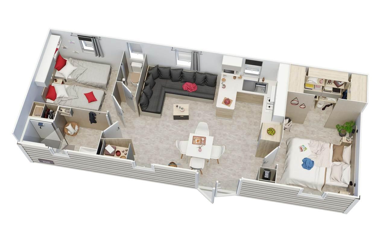 Mobilheim CAPUCINE 2 Schlafzimmer | IRM