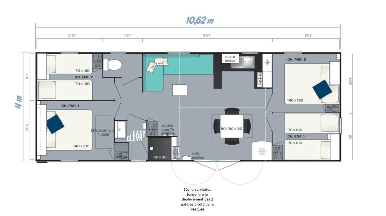 Casa prefabricada SMALA - 4 habitaciones | IRM para profesionales