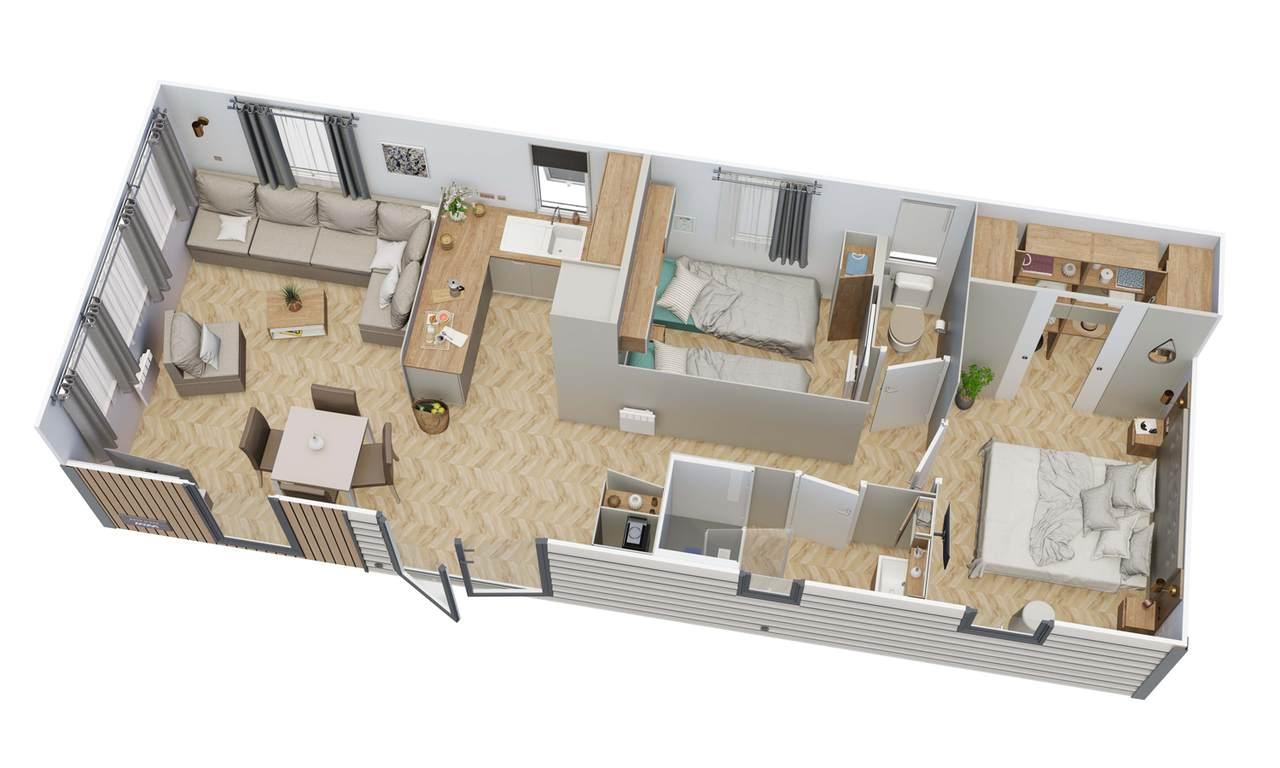 Mobile home with RÊVE D'ÉTÉ 2 bedrooms | IRM