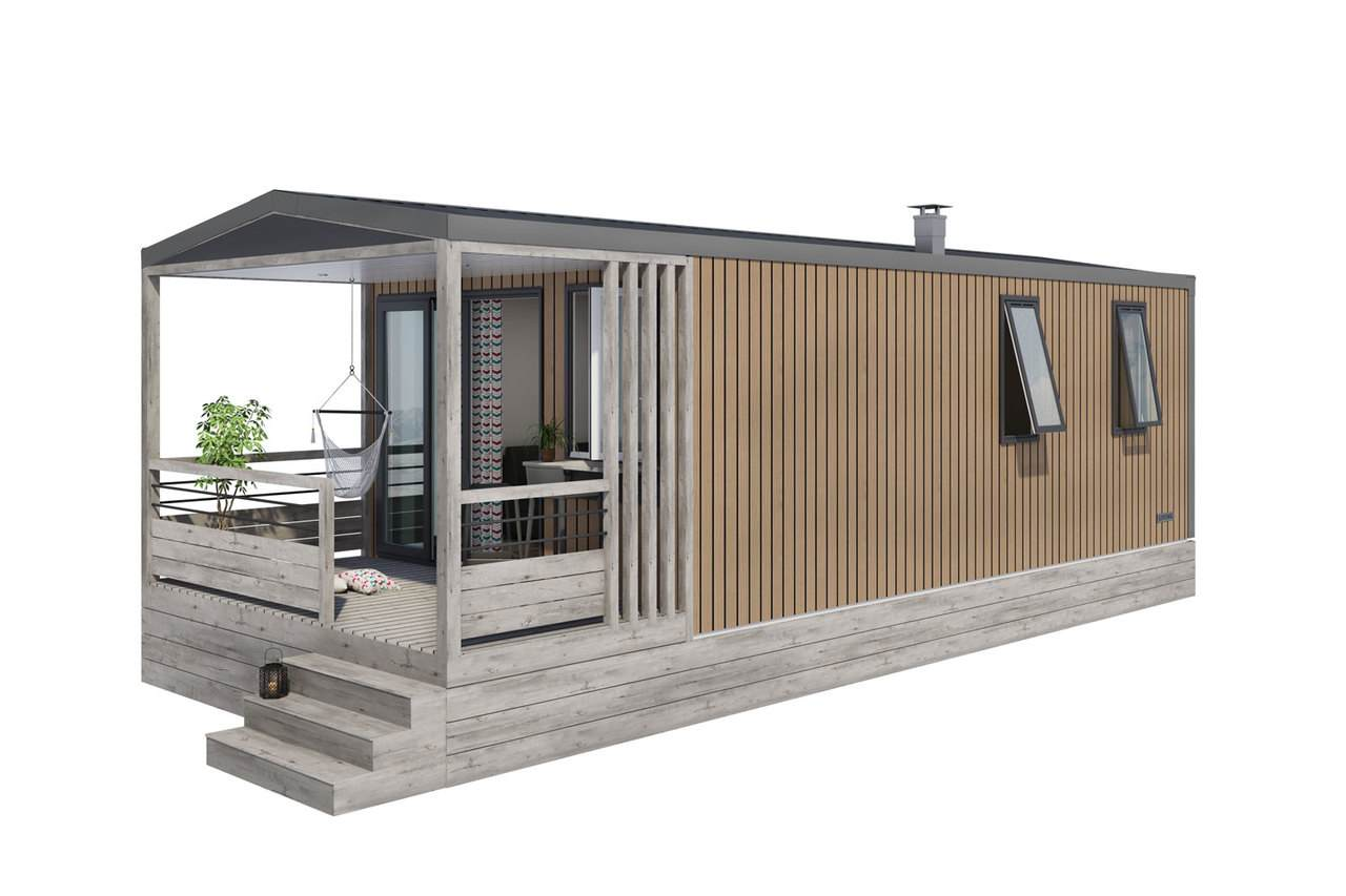 Mobil-home 2 chambres Living 1
