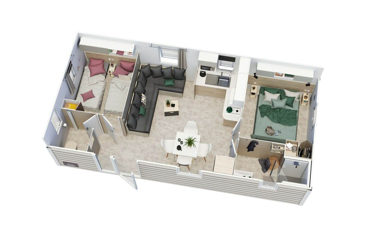 Mobil-home AZALÉE 2 chambres | IRM