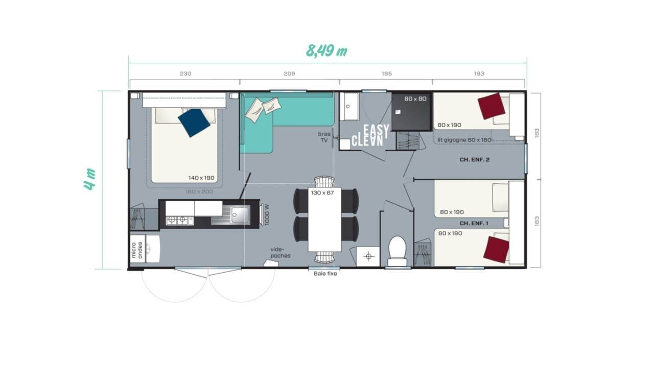 Mobile home RIVIERA 3 - 3 bedrooms | IRM for professionals